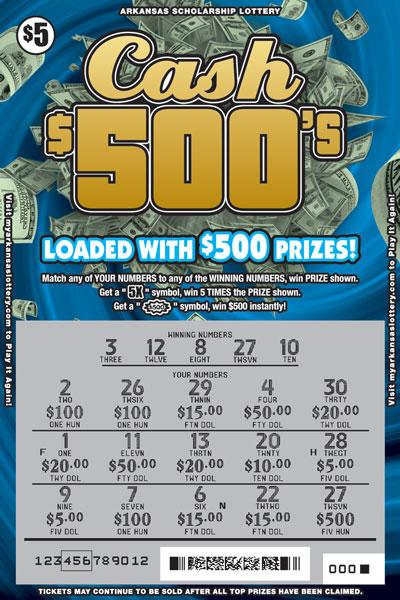 Arkansas Lottery Instant Ticket - Multiplier Money