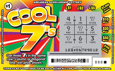 Arkansas Lottery Instant Ticket - Cool 7's