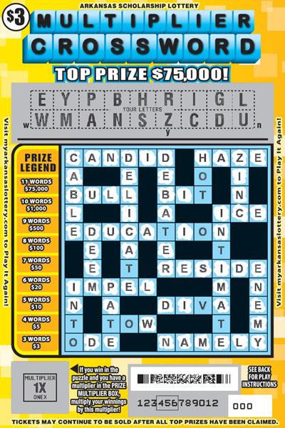 Multiplier Crossword | Arkansas Scholarship Lottery