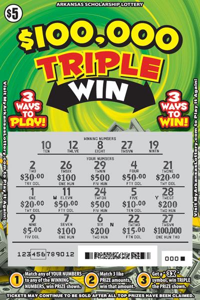 $100,000 Triple Win - Game No. 474