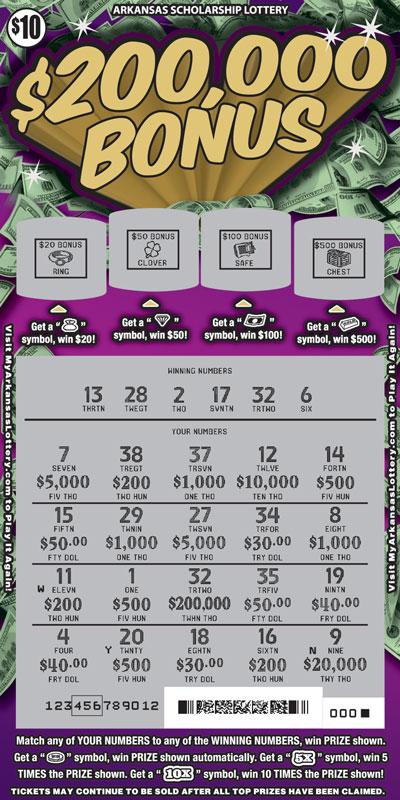 $200,000 Bonus - Game No. 489