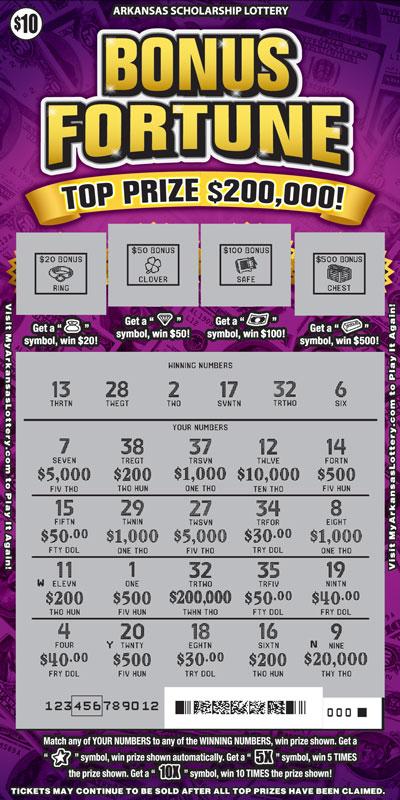 Bonus Fortune - Game No. 579