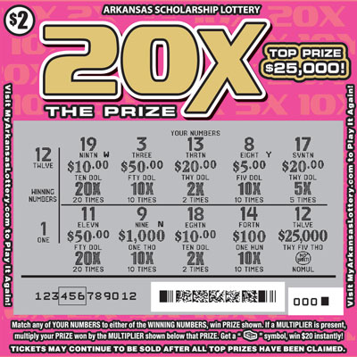 20X the Prize - Game No. 605