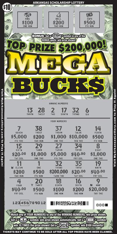 Mega Buck$ - Game No. 613